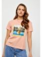 Setre Mint Baskılı Kısa Kol T-Shirt Somon